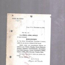 Líneas de navegación: JOAQUIN DEL CUVILLO. CADIZ. 1925. SALIDA DE BARCO. VAPOR BACCHUS. VER. Lote 124364823