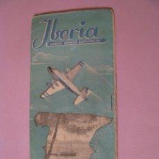 Líneas de navegación: IBERIA. LINEAS AÉREAS ESPAÑOLAS. HORARIOS Y TARIFAS EN VIGOR DESDE 15 DE ABRIL DE 1951.. Lote 125170131