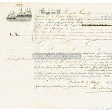Líneas de navegación: HAVANA/ LA HABANA. CONOCIMIENTO DE EMBARQUE. LEONARDO GONZALEZ. FRAGATA GENERAL CHURRUCA. 1856.. Lote 125308199