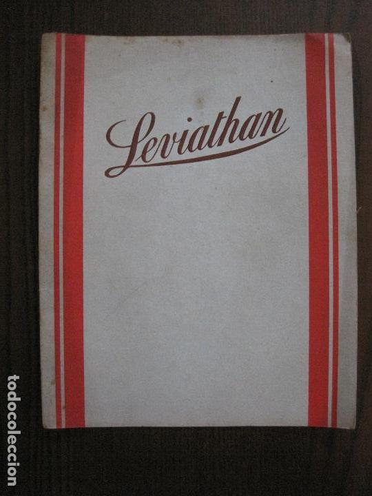 LEVIATHAN- BARCO CRUCERO- UNITED STATES LINES - CATALOGO PUBLICIDAD -VER FOTOS-(V-14.884) (Coleccionismo - Líneas de Navegación)