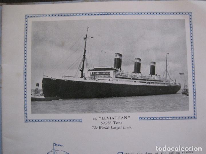 Líneas de navegación: LEVIATHAN- BARCO CRUCERO- UNITED STATES LINES - CATALOGO PUBLICIDAD -VER FOTOS-(V-14.884) - Foto 3 - 126907791