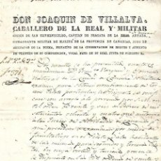 Líneas de navegación: 1837. NOMBRAMIENTO DE PILOTO PARA LA CARRERA DE INDIAS. CANARIAS. VER. Lote 131322206