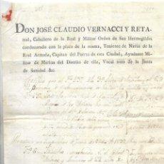 Líneas de navegación: PUERTO SANTA MARIA. 1832. DOCUMENTO DE VENTA DE UN FALUCHO. LEER. Lote 131322802