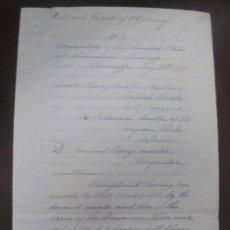 Líneas de navegación: CONSULADO DE EEUU EN TENERIFE. SS COOPER. LEER. 1879. Lote 131328158