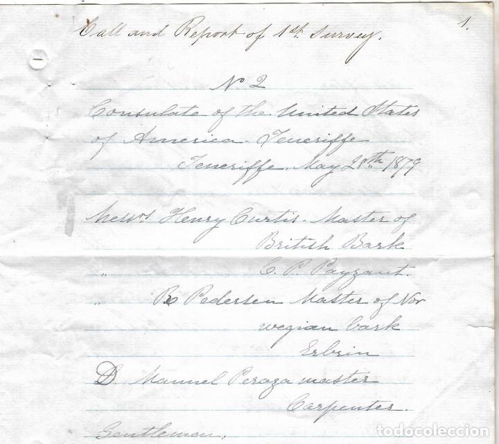 Líneas de navegación: CONSULADO DE EEUU EN TENERIFE. SS COOPER. LEER. 1879 - Foto 6 - 131328158