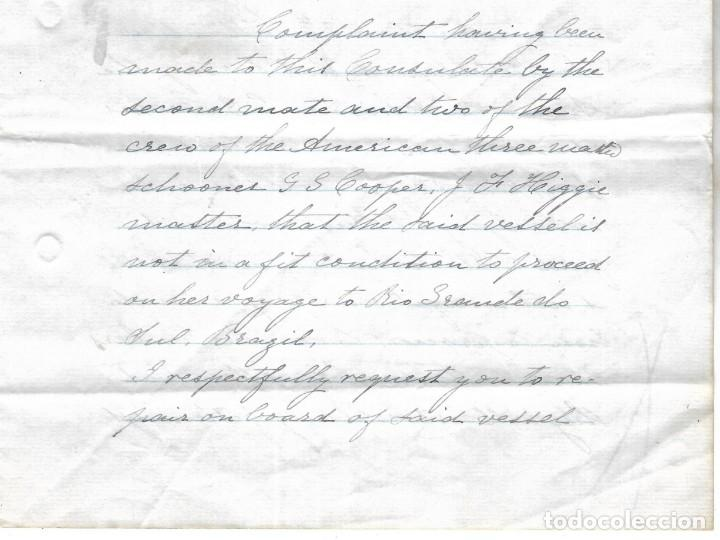 Líneas de navegación: CONSULADO DE EEUU EN TENERIFE. SS COOPER. LEER. 1879 - Foto 7 - 131328158
