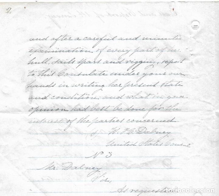 Líneas de navegación: CONSULADO DE EEUU EN TENERIFE. SS COOPER. LEER. 1879 - Foto 8 - 131328158