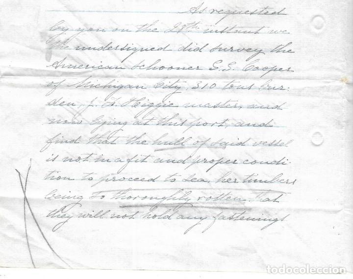 Líneas de navegación: CONSULADO DE EEUU EN TENERIFE. SS COOPER. LEER. 1879 - Foto 9 - 131328158
