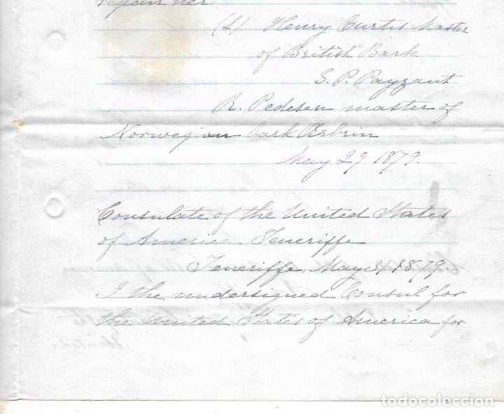 Líneas de navegación: CONSULADO DE EEUU EN TENERIFE. SS COOPER. LEER. 1879 - Foto 11 - 131328158
