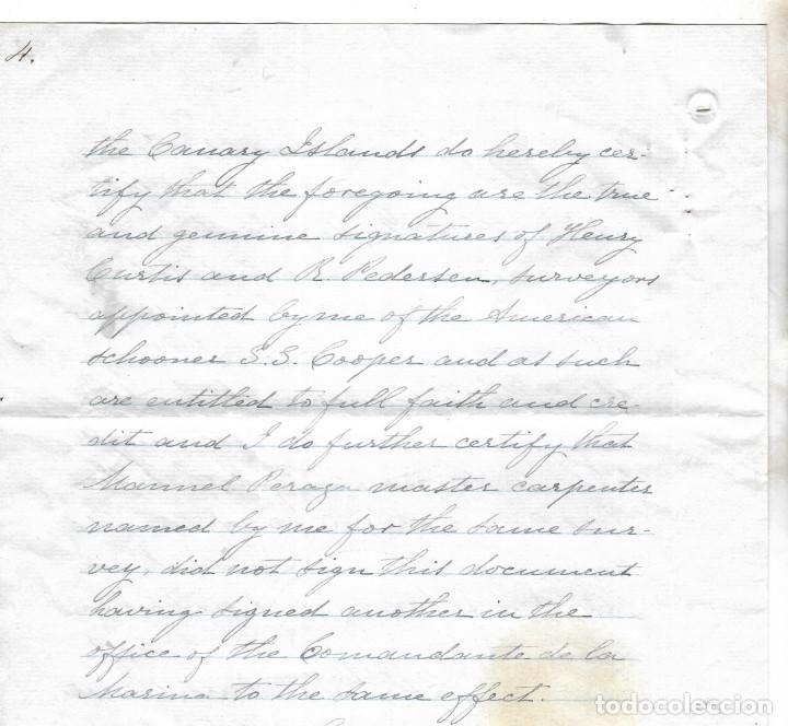 Líneas de navegación: CONSULADO DE EEUU EN TENERIFE. SS COOPER. LEER. 1879 - Foto 12 - 131328158