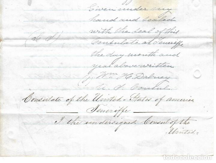 Líneas de navegación: CONSULADO DE EEUU EN TENERIFE. SS COOPER. LEER. 1879 - Foto 13 - 131328158
