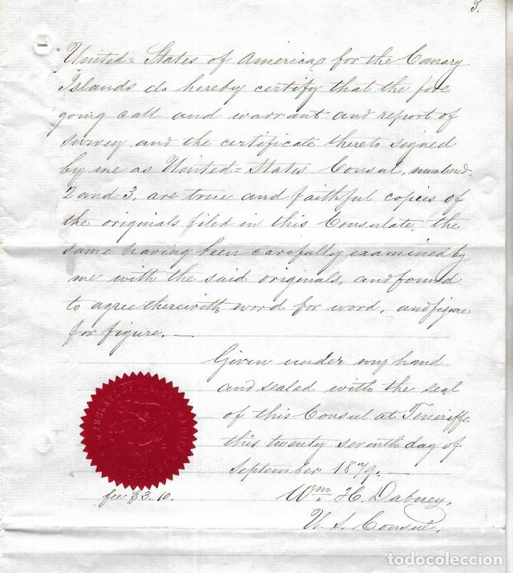 Líneas de navegación: CONSULADO DE EEUU EN TENERIFE. SS COOPER. LEER. 1879 - Foto 14 - 131328158