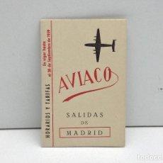 Linee di navigazione: HORARIO Y TARIFAS AVIACO - AÑO 1959 SALIDAS DE MADRID. Lote 132130506