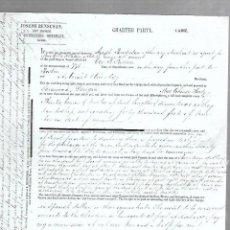 Líneas de navegación: CONOCIMIENTO DE EMBARQUE. JOSEPH BENSUSAN. DE CADIZ A FERROL. 1860. Lote 133700470