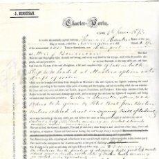 Líneas de navegación: CONOCIMIENTO DE EMBARQUE. JOSEPH BENSUSAN. DE CADIZ A BOSTON O GLOUCESTER. 1873. Lote 133701642