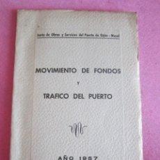 Líneas de navegación: MOVIMIENTO DE FONDOS Y TRAFICO DEL PUERTO 1957 EL MUSEL GIJON ASTURIAS. Lote 133730086
