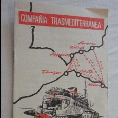 Líneas de navegación: COMPAÑIA TRASMEDITERRANEA.SERVICIOS NORTE DE AFRICA.HORARIOS.TARIFAS.1971. Lote 134124358