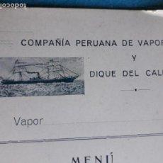 Líneas de navegación: COMPAÑÍAS PERUANA DE VAPORES Y DIQUE DEL CALLAO.. Lote 134318926
