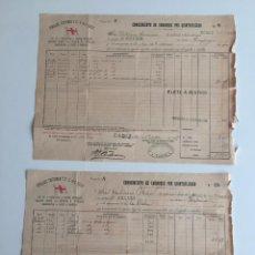 Líneas de navegación: CONOCIMIENTO DE EMBARQUE PINILLOS , IZQUIERDO , CADIZ , 1897 , LOTE DE 2. Lote 137398650