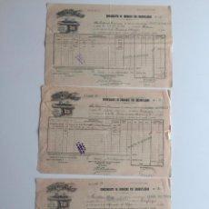 Líneas de navegación: CONOCIMIENTO DE EMBARQUE PINILLOS , SAENZ , CADIZ , 1894 , LOTE DE 3. Lote 137399002