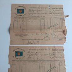 Líneas de navegación: CONOCIMIENTO DE EMBARQUE F. PRATS , CADIZ 1897 , LOTE DE 2. Lote 137399454
