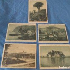 Líneas de navegación: CINCO POSTALES PAISAJES CA 1925/30 HAPAG HAMBURG AMERIKA LINIE. Lote 137899702