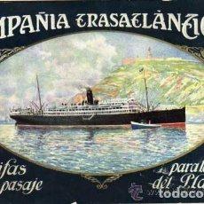 Líneas de navegación: COMPAÑÍA TRASATLÁNTICA TARIFAS DEL PASAJE PARA LA LINEA DEL PLATA 1929 VAPOR REINA VICTORIA EUGENIA. Lote 138926450