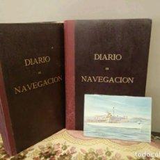 Líneas de navegación: 2 DIARIO DE NAVEGACIÓN DEL BUQUE BEGOÑA - COMPAÑÍA TRASATLÁNTICA ESPAÑOLA - CUADERNO DE BITACORA. Lote 140265910