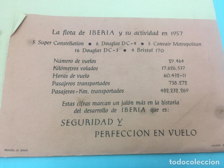 Líneas de navegación: CARPETA PARA DOCUMENTACION DE IBERIA AÑOS 50 - PRESTEN ATENCION A SU ESTADO - Foto 3 - 140933770