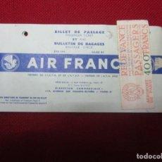 Líneas de navegación: BILLET DE PASSAGE AIR FRANCE 1956. Lote 141144674