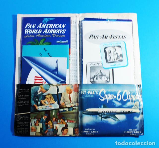 Líneas de navegación: PORTFOLIO CLIPPER PAN AMERICAN WORLD AIRWAIS CARPETA + 7 FOLLETOS + 1 DICCIONARIO + 3 POSTALES, PAA - Foto 5 - 142460902