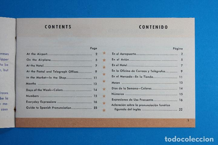 Líneas de navegación: DICCIONARIO INGLES ESPAÑOL FRASES UTILES EN INGLES, PAN AMERICAN WORLD AIRWAIS PAA, 24 PAGINAS - Foto 2 - 142461306