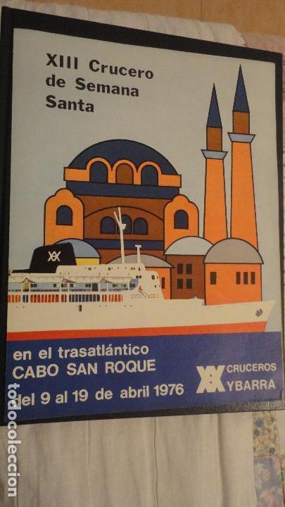 XIII CRUCERO DE SEMANA SANTA.TRASATLANTICO CABO SAN ROQUE.YBARRA 1976 (Coleccionismo - Líneas de Navegación)