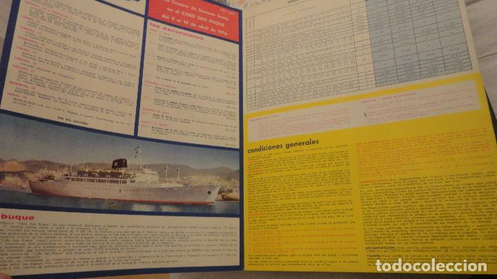 Líneas de navegación: XIII CRUCERO DE SEMANA SANTA.TRASATLANTICO CABO SAN ROQUE.YBARRA 1976 - Foto 2 - 143215462