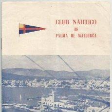 Líneas de navegación: DOCUMENTO MARINA PROGRAMA REGATAS 1949 CLUB NAUTICO PALMA DE MALLORCA. Lote 144346802