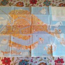 Linhas de navegação: MAPA DE VENECIA MONUMENTOS Y CANALES. Lote 144596766