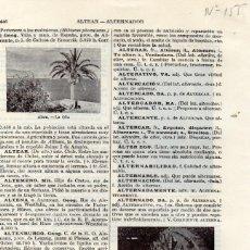 Líneas de navegación: LÁMINA ESPASA + 60 AÑOS ANTIGÜEDAD - ALTEA - LA OLLA + ALTERNADOR. Lote 147580342