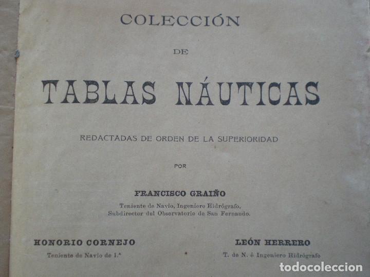 Líneas de navegación: COLECCION DE TABLAS NAUTICAS - FRANCISCO GRAIÑO - EL CORREO GALLEGO 1905 // SELLO R. DEL VILLAR - Foto 4 - 148538878