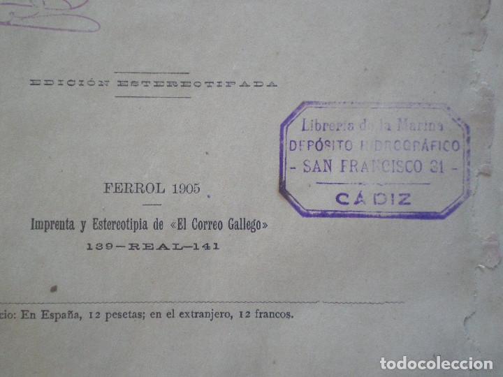 Líneas de navegación: COLECCION DE TABLAS NAUTICAS - FRANCISCO GRAIÑO - EL CORREO GALLEGO 1905 // SELLO R. DEL VILLAR - Foto 6 - 148538878