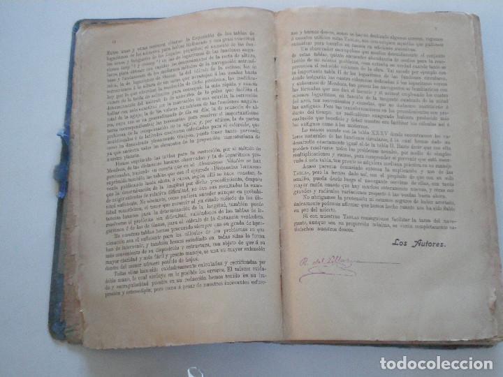 Líneas de navegación: COLECCION DE TABLAS NAUTICAS - FRANCISCO GRAIÑO - EL CORREO GALLEGO 1905 // SELLO R. DEL VILLAR - Foto 9 - 148538878
