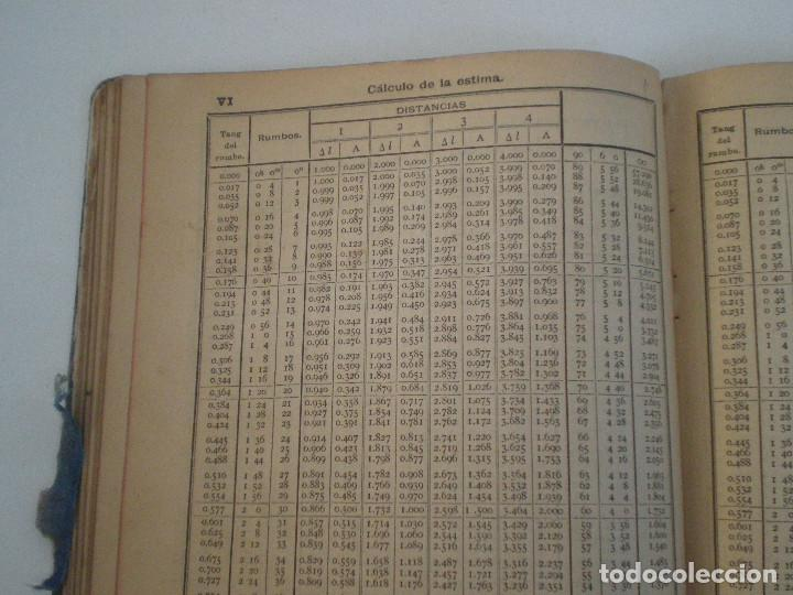 Líneas de navegación: COLECCION DE TABLAS NAUTICAS - FRANCISCO GRAIÑO - EL CORREO GALLEGO 1905 // SELLO R. DEL VILLAR - Foto 21 - 148538878