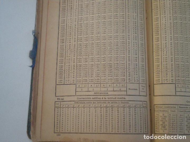 Líneas de navegación: COLECCION DE TABLAS NAUTICAS - FRANCISCO GRAIÑO - EL CORREO GALLEGO 1905 // SELLO R. DEL VILLAR - Foto 22 - 148538878