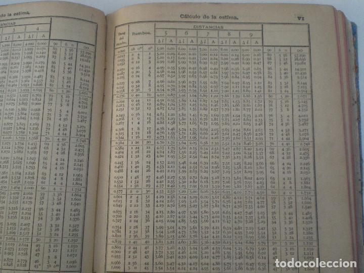 Líneas de navegación: COLECCION DE TABLAS NAUTICAS - FRANCISCO GRAIÑO - EL CORREO GALLEGO 1905 // SELLO R. DEL VILLAR - Foto 23 - 148538878