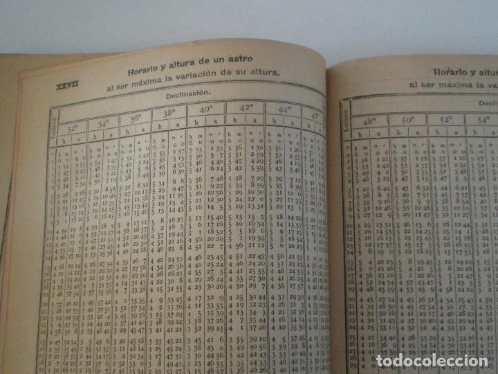 Líneas de navegación: COLECCION DE TABLAS NAUTICAS - FRANCISCO GRAIÑO - EL CORREO GALLEGO 1905 // SELLO R. DEL VILLAR - Foto 28 - 148538878