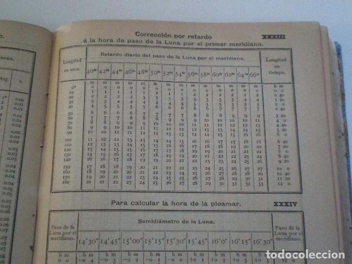 Líneas de navegación: COLECCION DE TABLAS NAUTICAS - FRANCISCO GRAIÑO - EL CORREO GALLEGO 1905 // SELLO R. DEL VILLAR - Foto 30 - 148538878