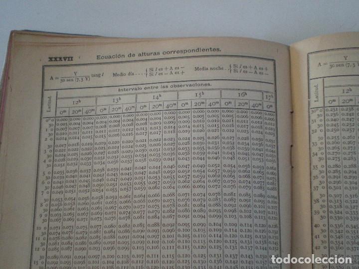 Líneas de navegación: COLECCION DE TABLAS NAUTICAS - FRANCISCO GRAIÑO - EL CORREO GALLEGO 1905 // SELLO R. DEL VILLAR - Foto 32 - 148538878