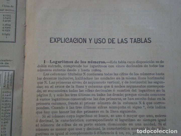 Líneas de navegación: COLECCION DE TABLAS NAUTICAS - FRANCISCO GRAIÑO - EL CORREO GALLEGO 1905 // SELLO R. DEL VILLAR - Foto 35 - 148538878