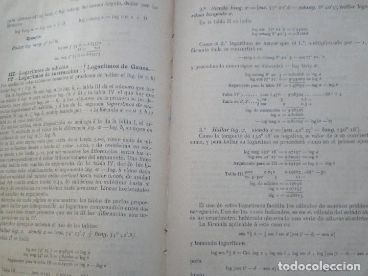 Líneas de navegación: COLECCION DE TABLAS NAUTICAS - FRANCISCO GRAIÑO - EL CORREO GALLEGO 1905 // SELLO R. DEL VILLAR - Foto 36 - 148538878