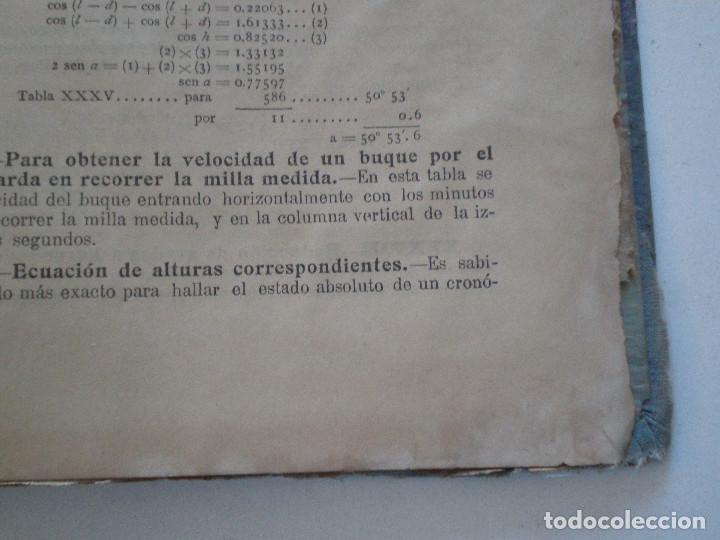 Líneas de navegación: COLECCION DE TABLAS NAUTICAS - FRANCISCO GRAIÑO - EL CORREO GALLEGO 1905 // SELLO R. DEL VILLAR - Foto 37 - 148538878