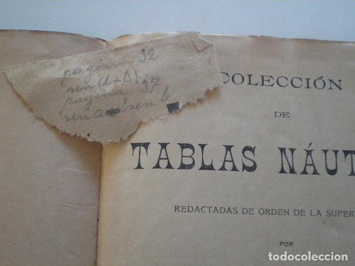 Líneas de navegación: COLECCION DE TABLAS NAUTICAS - FRANCISCO GRAIÑO - EL CORREO GALLEGO 1905 // SELLO R. DEL VILLAR - Foto 41 - 148538878